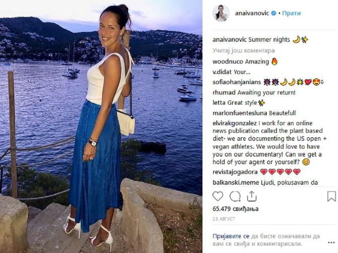 Ana Ivanović uslikana na US Openu: Mnogo se očekivalo od nje, a ona se u OVOME pojavila