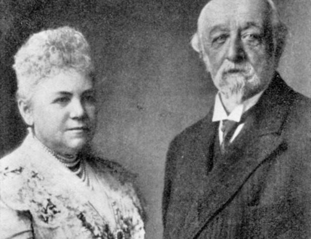 Joanna von Schaffgotsch z mężem, 1908 r.
