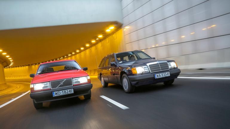 Mercedes S124 kontra Volvo 740 kombi