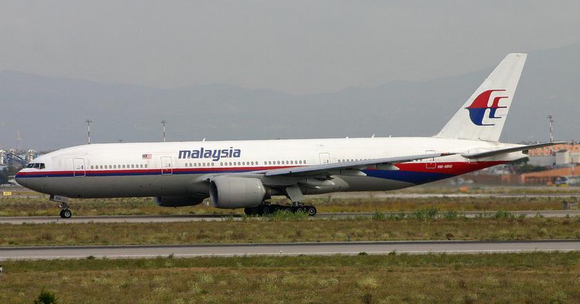 Boeing 777 linii lotniczych Malaysia o rejestracji 9M-MRD sfotografowany 3 lata przed zestrzeleniem