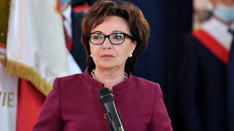 Włoszczowa, 01.09.2020. Marszałek Sejmu Elżbieta Witek PAP/Piotr Polak
