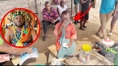 Tears flow as Osebo gifts disabled shoemaker GHC4,000 plus motorbike (VIDEO)