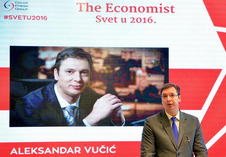 Aleksandar Vučić, Ivica Dačić, Konferencija, Ekonomist 03_TANJUG_foto Zoran Zestic