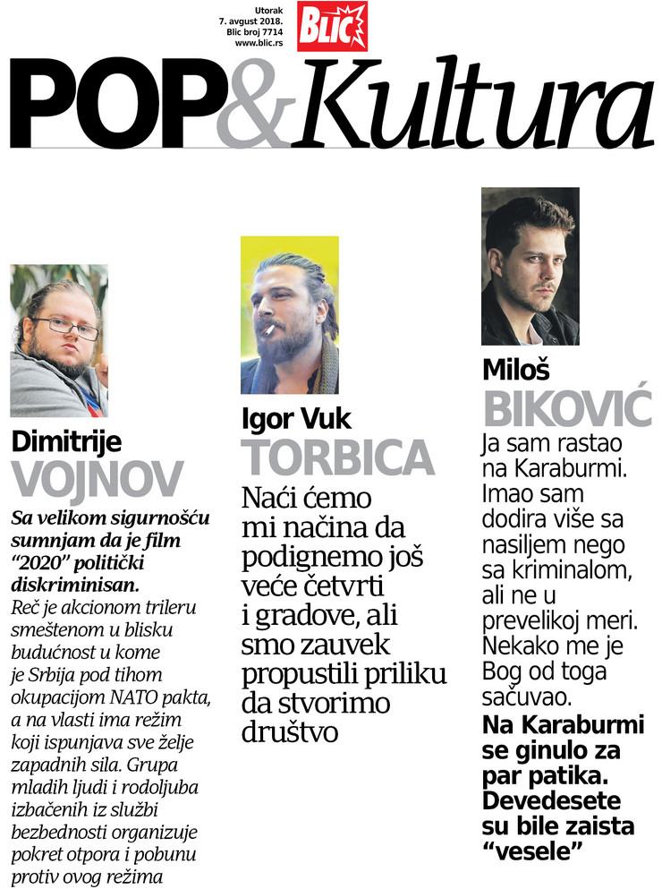 POP Kultura Cover Vojnov, Torbica, Bikovic