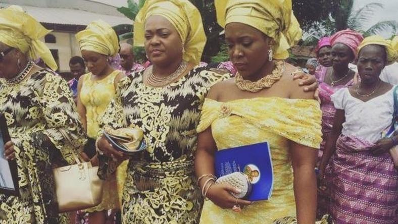 Moet Abebe at her grandfather's burial