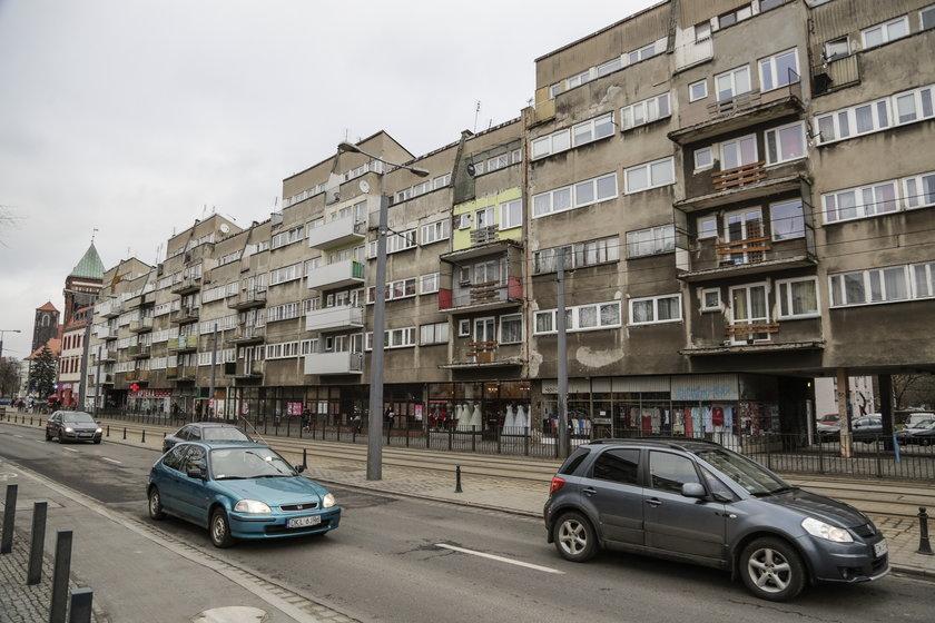 Bloki przy ul. Piaskowej we Wrocławiu