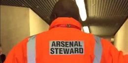 Kibic ugryzł stewarda na meczu Arsenalu. WIDEO