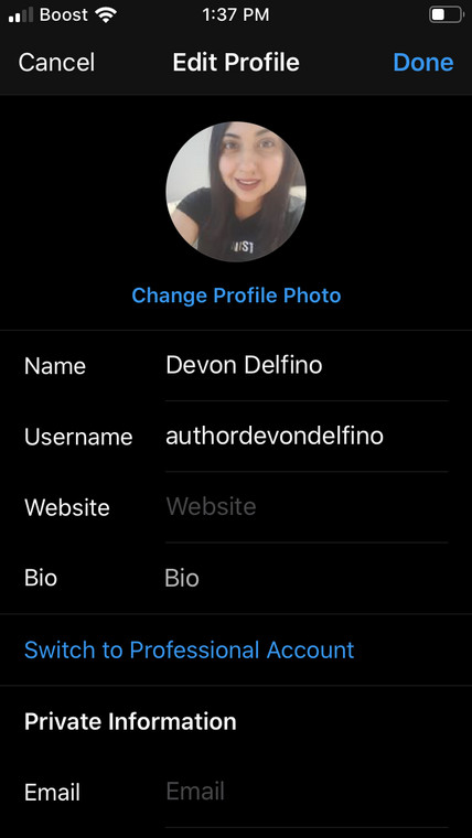 How to put spaces in Instagram bio 2