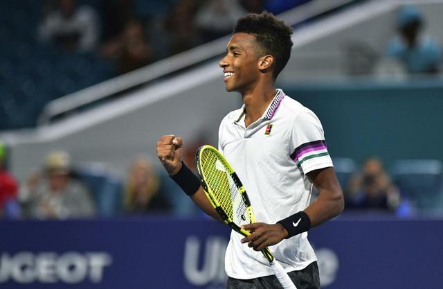 Feliks Ože Alijasim slavi ulazak u polufinale mastersa u Majamiju, ali i u istoriju turnira