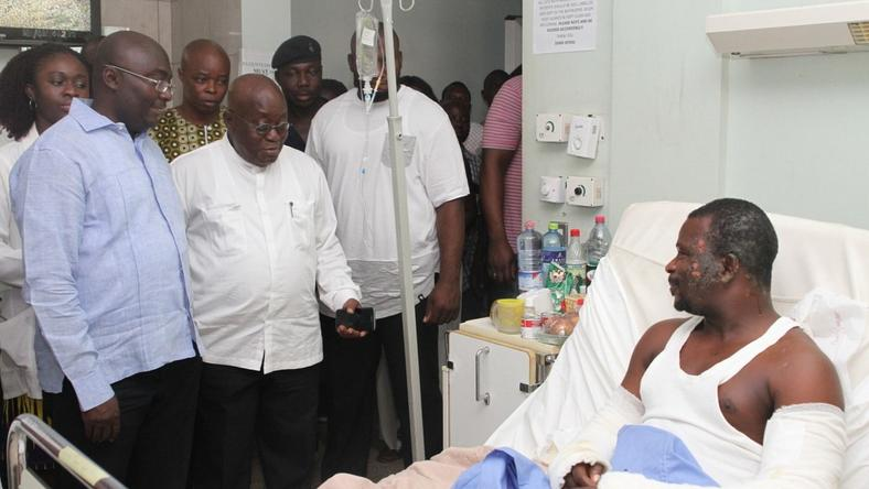 Nana Addo donates his November salary to Korle-Bu accident centre