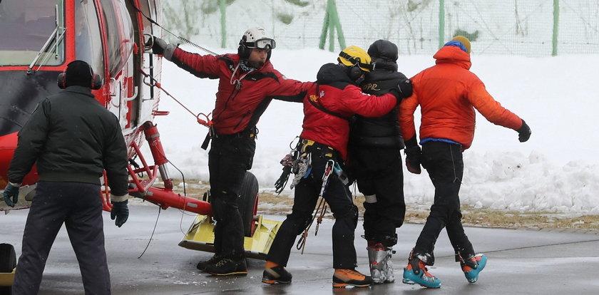 Lawina w Tatrach! Dwie osoby wydobyte spod śniegu
