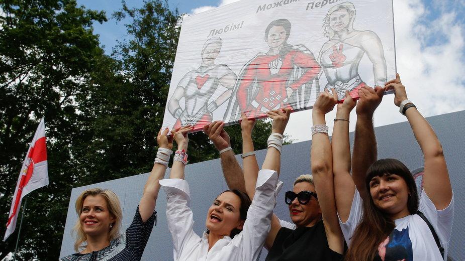 Kobiety wiązane z białoruską opozycją