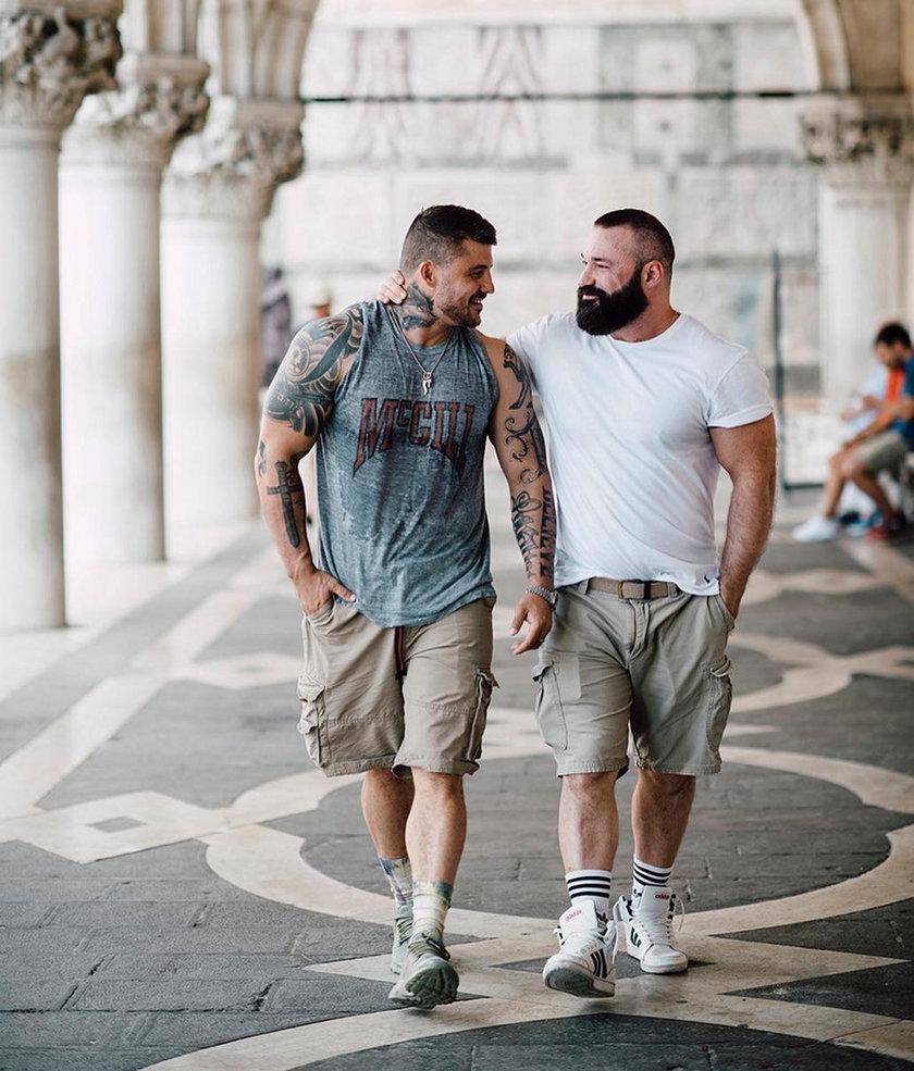 Zaręczyny w Wenecji. Kulturysta oświadczył się olimpijczykowi