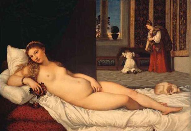"""Jedno z najbardziej znanych dzieł Tycjana """"Venus z Urbino""""."""