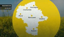 Prognoza pogody dla woj. mazowieckiego - 20.09