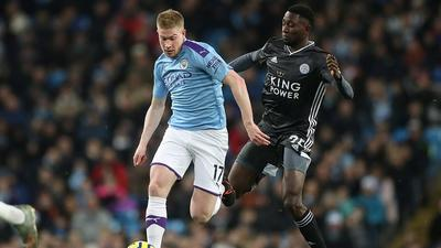 Wilfred Ndidi played 90 minutes as Leicester City were outclassed by Manchester City(Action via Reuters)