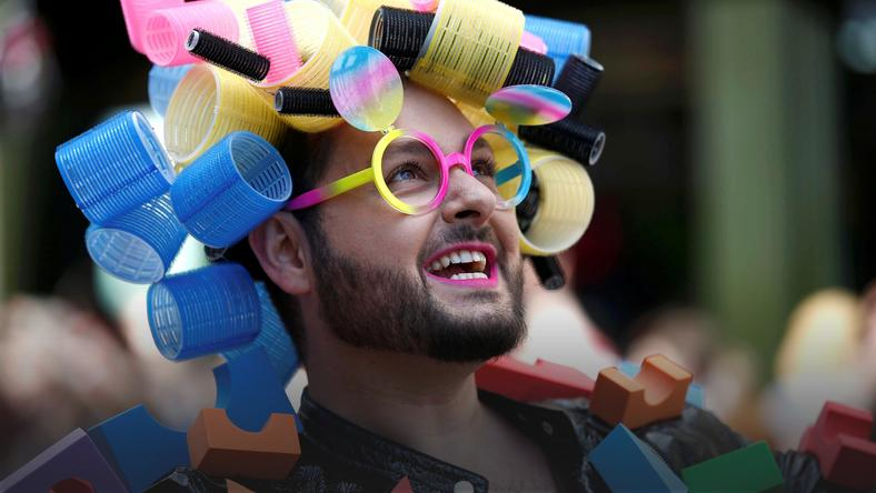 A participant takes part in the annual Pride London Parade, in London