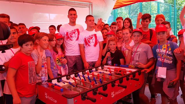 Fudbaleri Crvene zvezde Vujadin Savić i Dejan Joveljić na ovogodišnjem izdanju Sportskih igara mladih na Adi Ciganliji