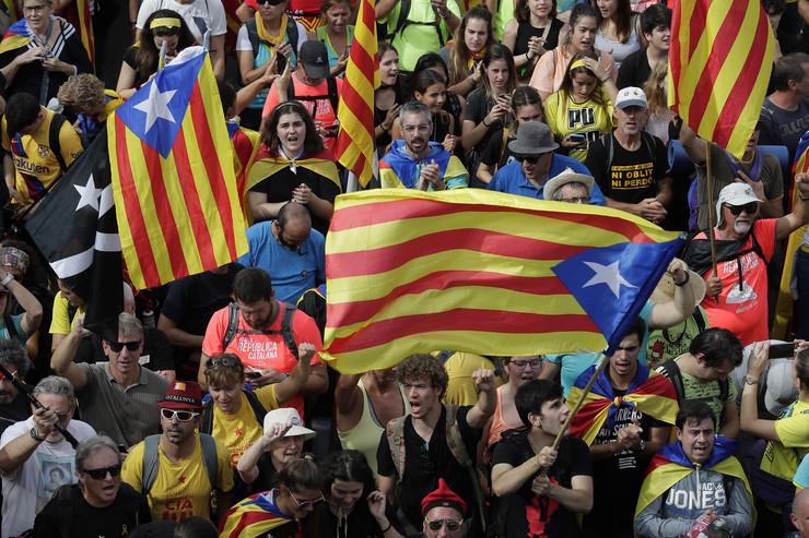 Barselona protest