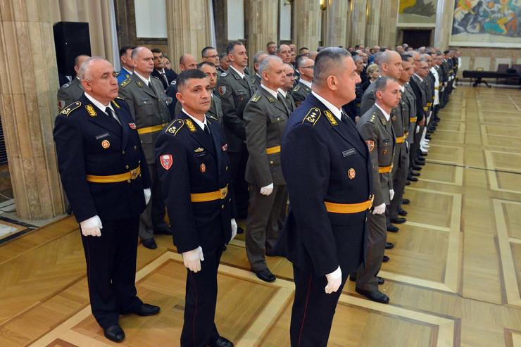 Uručena odlikovanja, činovi, Vojska Srbije