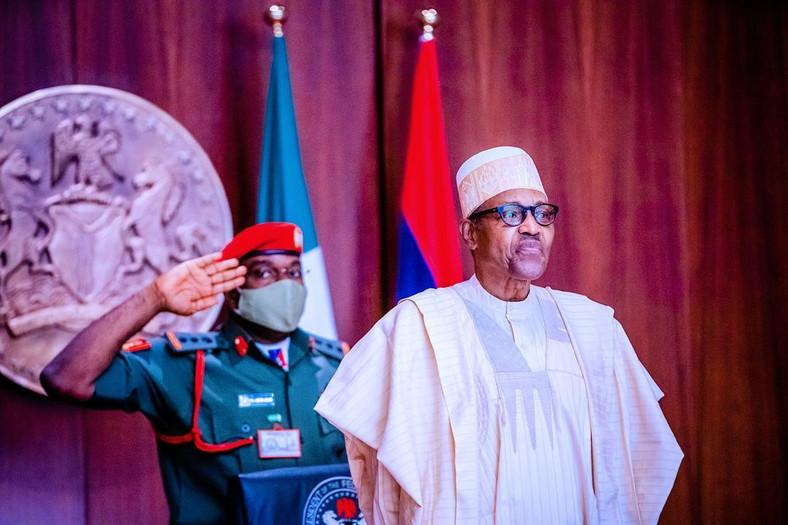 President Muhammadu Buhari inaugurates APC tripartite committee at the State House on Monday, August 31, 2020 (Tolani Alli)
