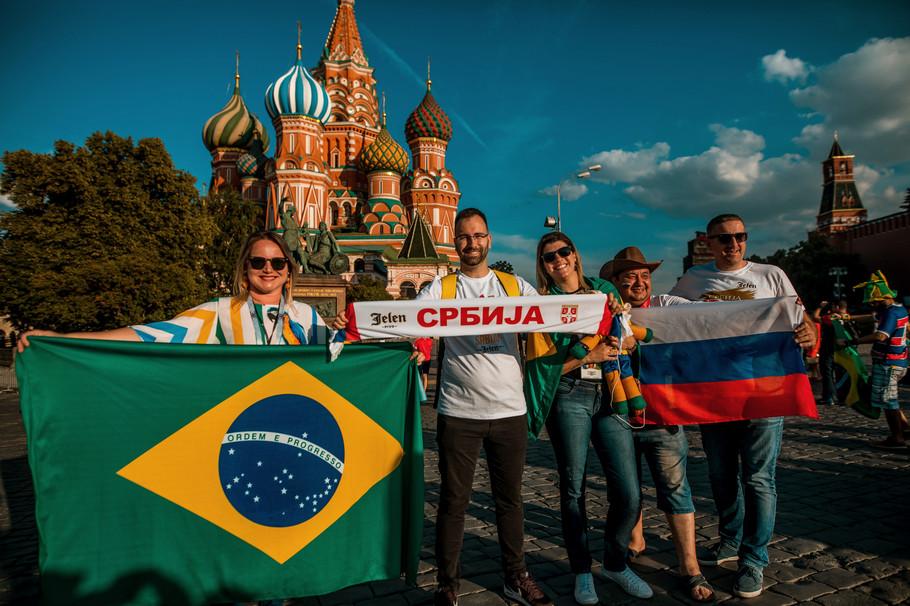 Jelen navijači Srbije u Moskvi