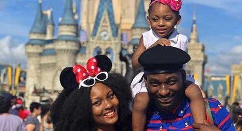 Gbenro Ajibade and his ex wife Osas Ighodaro and their daughter [Instagram/GbenroAjibade]