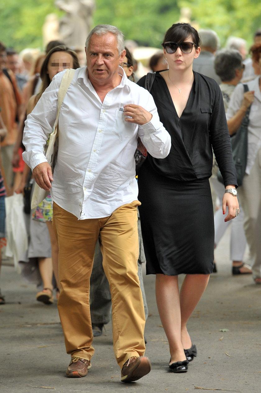 Marek Kondrat i Antonina Turnau na ulicy