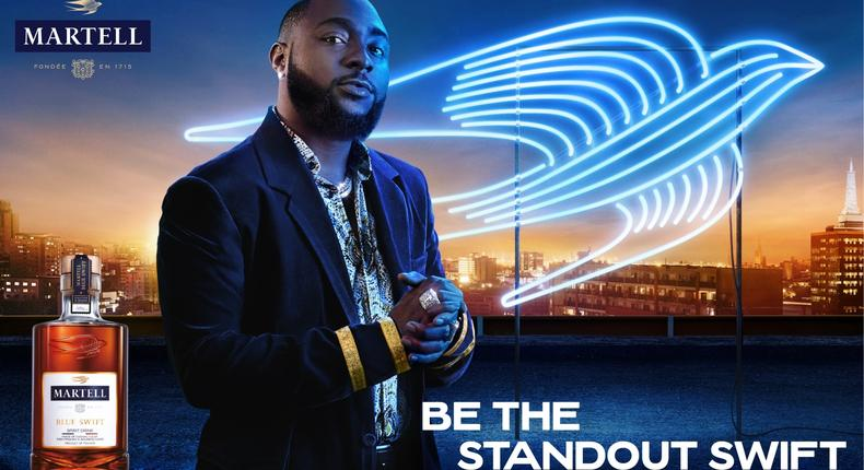 Martell Cognac launches its 'Be The Standout Swift' campaign with Davido