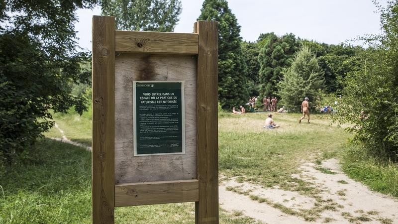 Wejście do parku dla nudystów