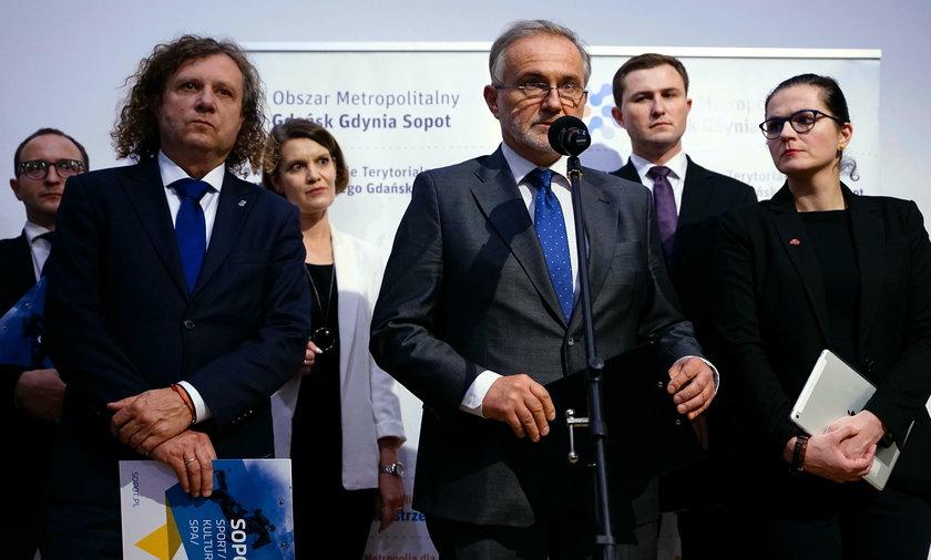 Jacek Karnowski, Wojciech Szczurek i Aleksandra Dulkiewicz