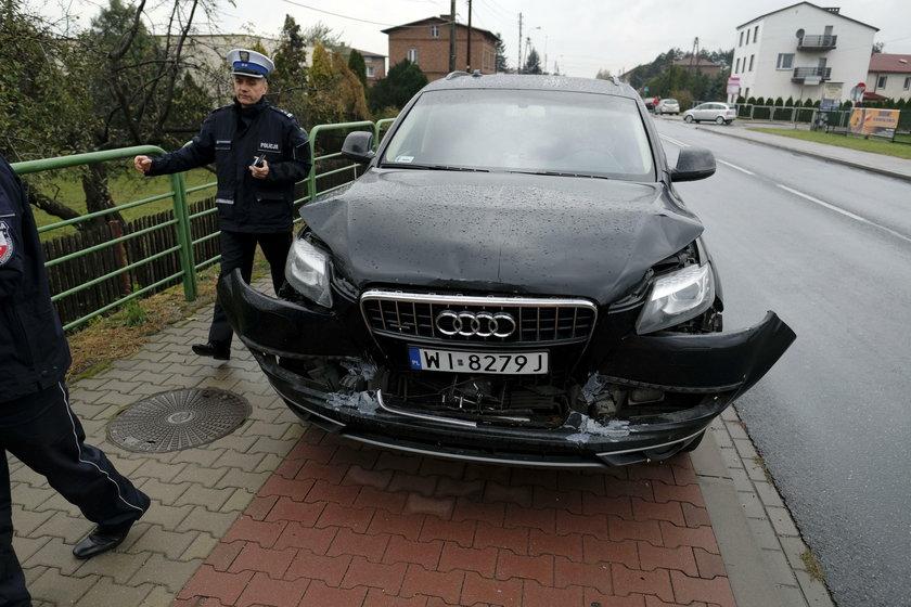 Wypadek bylej premier Beaty Szydlo jadacej w kolumnie rzadowej w Imielinie