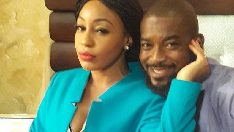 "Rita Dominic, Chidi Mokeme on set of ""Mr and Mrs Revolution"""