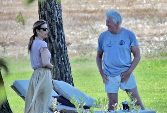 Ričard Gir sa ženom