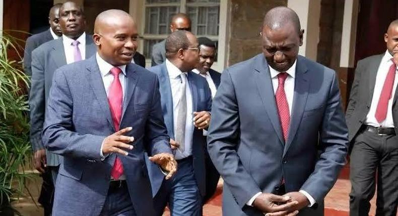 File Image of Senator Kindiki with DP William Ruto.