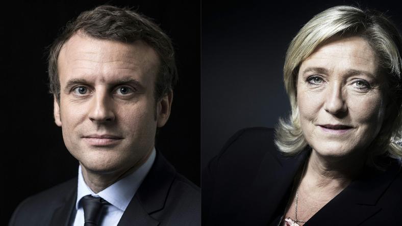 Kandydaci na fotel prezydenta Francji: Emmanuel Macron i Marine Le Pen