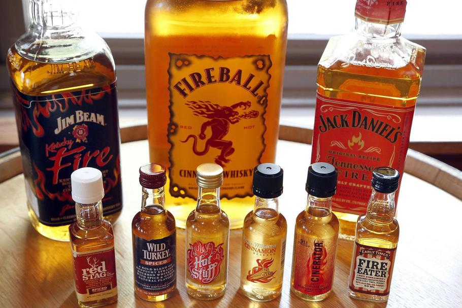Whiskey makers fight fire with cinnamon: Everyone chasing fireball's heat