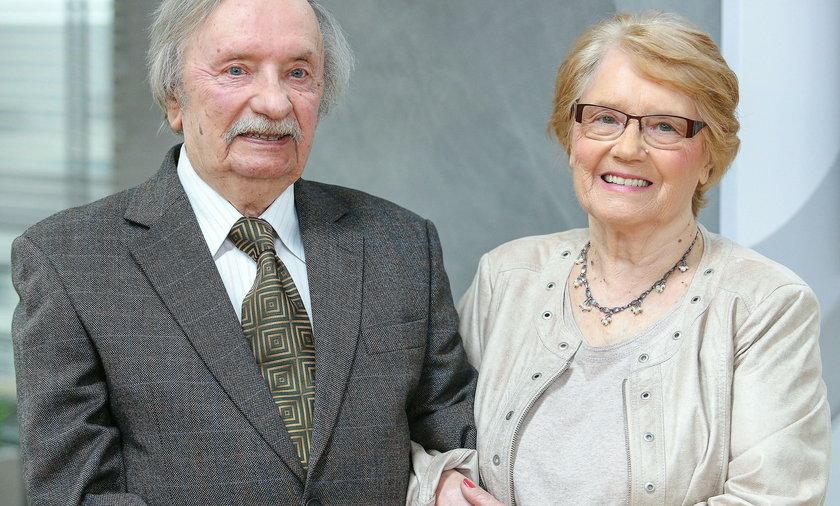 Wojciech Pokora z żoną