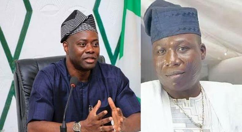 Governor Seyi Makinde and Sunday Adeyemo aka Sunday Igboho (Thepoint)