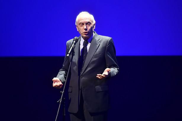 Dyrektor Festiwalu Leszek Kopeć podczas ceremonii otwarcia 43. Festiwalu Polskich Filmów Fabularnych w Teatrze Muzycznym w Gdyni