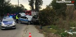 Pościg w Katowicach. Ranny policjant