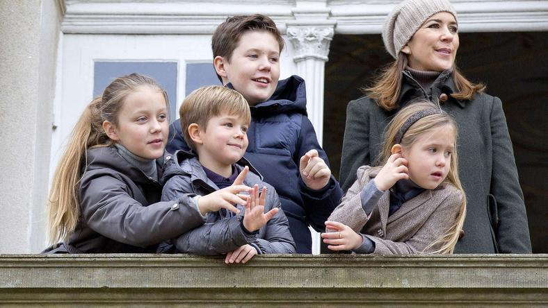 Duńska rodzina królewska na Hubertusie