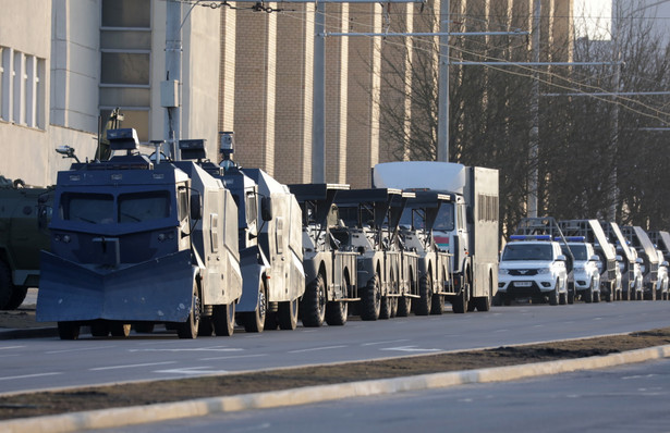 Policja na ulicach Mińska