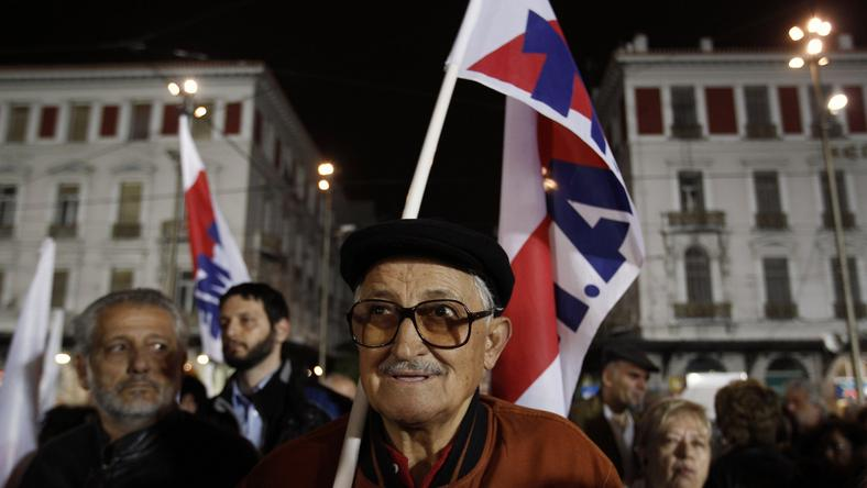 Antyrządowe protesty w Grecji, fot. Reuters