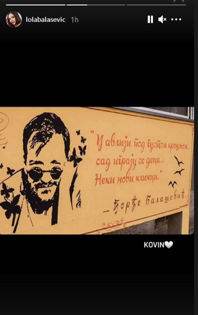 Reakcije Jovane Balaević na murale posvećene njenom ocu