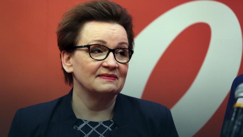 WARSZAWA MEN MINISTER ZALEWSKA PLA KONFERENCJA (Anna Zalewska )