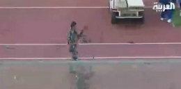 Piłkarze się bili, wojsko strzelało WIDEO