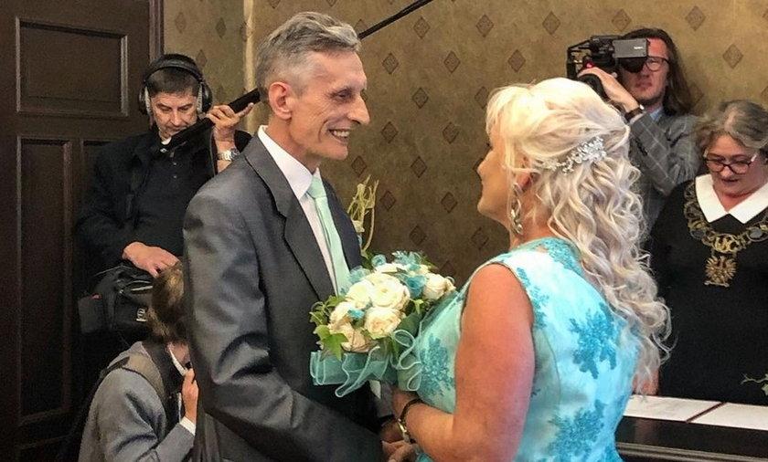 Adam Siewierski z żoną