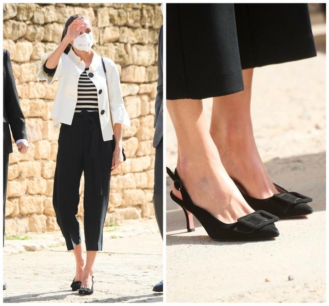 Kraljica Leticija u cipelama sa otvorenom petom koje su hit ovog proleća