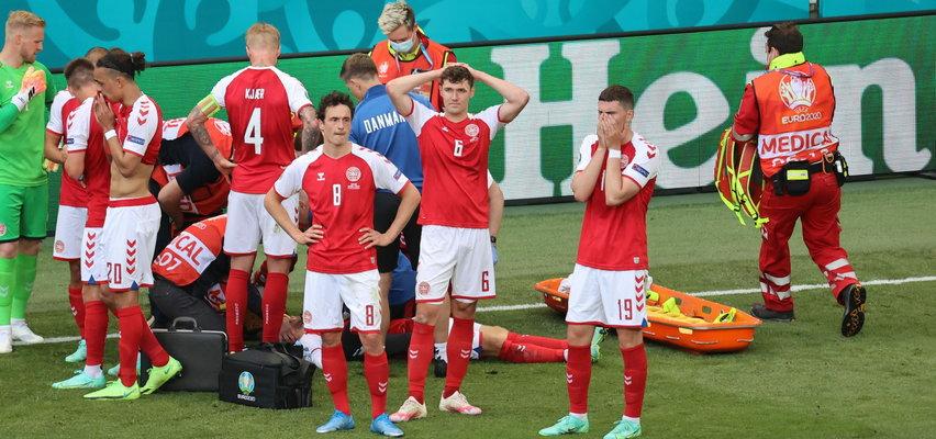 40 minut dramatu Christiana Eriksena. Partnerka wbiegła na murawę. Zobacz, co stało się na stadionie w Kopenhadze?